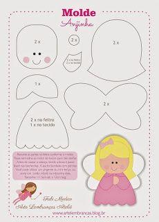 Paulinha Artesanatos: feltro e moldes