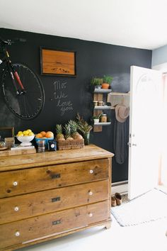 Ali & Dustin's chalkboard wall in Denver