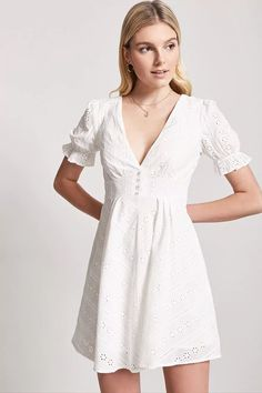 Product Name:Plunging Crochet Dress, Category:dress, Price:27.9