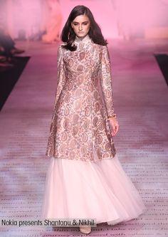 Nokia presents Shantanu and Nikhil, Mod Indian Fashion, Indian Wedding Fashion via Sharara Designs, Lehenga Designs, Pakistani Dresses, Indian Dresses, Eid Dresses, Brocade Dresses, Ethnic Outfits, Indian Outfits, Boho Outfits