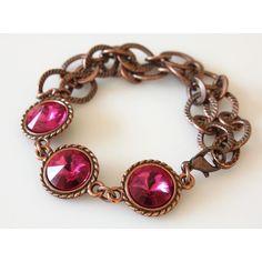 Swarovski Rivoli Bracelet ($27) ❤ liked on Polyvore featuring jewelry, bracelets and crystalglowdesign