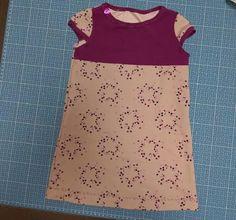 Billepiz - Sterntaler Kleid für kleine Damen. Nach dem Freebook Little Sweat Dress von Lin-Kim.