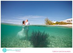 A beautiful and adventurous trash the dress shoot in Turks and Caicos with Brilliant Studios