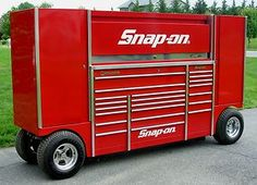 US $14,500.00 Snap On KRLP1023 Candy Apple Red Pit Box Tool Wagon Tool Box