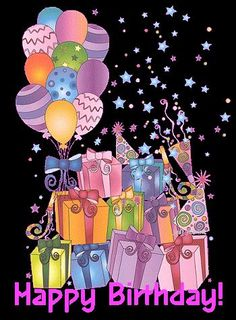 Gifts And Balloons Happy Birthday Quote balloons birthday gift happy birthday birthday quotes happy birthday quotes happy birthday images birthday images Happy Birthday Wishes Cards, Birthday Blessings, Happy Birthday Pictures, Happy Birthday Sister, Happy Birthday Quotes, Happy Birthdays, Birthday Clips, Birthday Fun, Humor Birthday