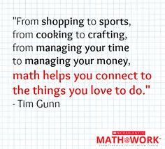 Tim Gunn emphasizes that math is a part of everything we do. Check out our free web series, Math at Work, which is all about the important role math plays in the fashion industry. Click to watch the premiere episode, featuring Tim Gunn and Diane Von Furstenberg!  #MathatWork #Math #Fashion