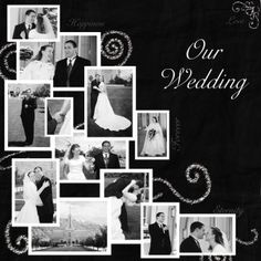 Wedding Scrapbook Ideas: Idea Gallery Of Creating DIY Wedding . Wedding Scrapbook Pages, Scrapbook Paper Crafts, Scrapbook Cards, Scrapbook Cover, Scrapbook Photos, Wedding Album, Wedding Book, Wedding Cards, Wedding Photos