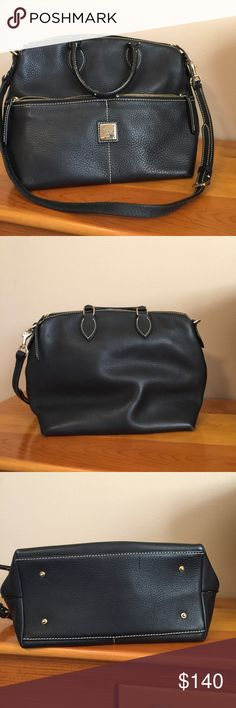 Dooney and Bourke Dillen Satchel Pebble grained black leather. Interior is clean. Dooney & Bourke Bags Satchels