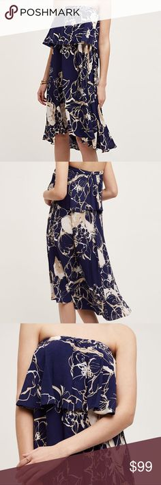 NWT Anthropologie Tracy Reese Tiered Enna Dress Brand new with tags gorgeous tiered, strapless dress with a swing silhouette!! High-low hem. Pullover styling. Perfect for the summer! Lots of stretch, so can definitely fit a small, probably even medium. :) Anthropologie Dresses Strapless