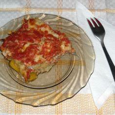 Musaca greceasca de vinete Eggplant, Lasagna, Quiche, Breakfast, Ethnic Recipes, Morning Coffee, Eggplants, Quiches, Lasagne