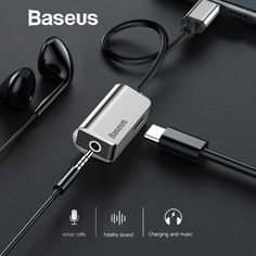 Baseus Type-C Audio Cable Adapter Type C To Jack Earphone Fast Charger Usb