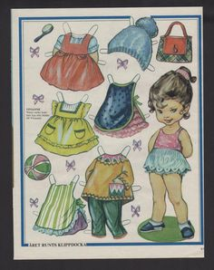"""VIVIANNE"" Paper Doll (1 Of 2) Free Printable Art, Paper Dolls Printable, Paper Toys, Paper Crafts, Paper Dolls Clothing, Vintage Paper Dolls, Childhood Toys, Retro Toys, Doll Crafts"
