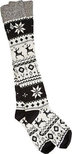 VOLCOM SNOW DAYS KNEE HI SOCK > Womens > Featured > New Holiday Catalog   Swell.com