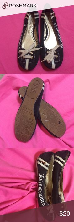 Slip on flats Super cute Juicy couture slip on flats. Worn a few times but great condition. Refer to pics for any wear and tear. Juicy Couture Shoes Flats & Loafers