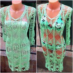 Ganchillo net club de vestir túnica por CrochetLaceClothing en Etsy