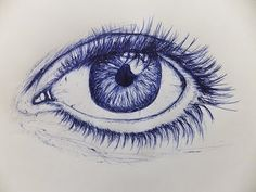 pen eye draw ballpoint drawing drawings face biro eyes sketch cool realistic sketches pens tutorial faces