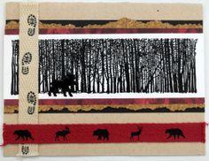 Outdoors Card Creative Impressions Ribbon/Cork Paper/Brads