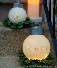 100 Best Outdoor DIY Christmas Decorations - Prudent Penny Pincher