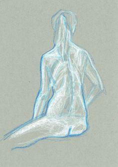 Drawing by Ödön Kunyi, crayon on grey paper, 2014