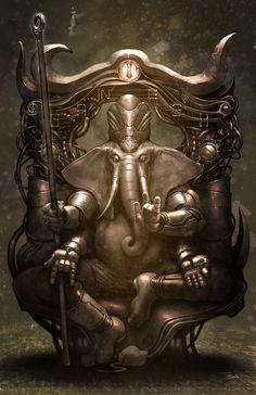 Ganesh by francis001.deviantart.com on @deviantART