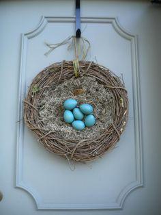 birdnest wreath - Google Search