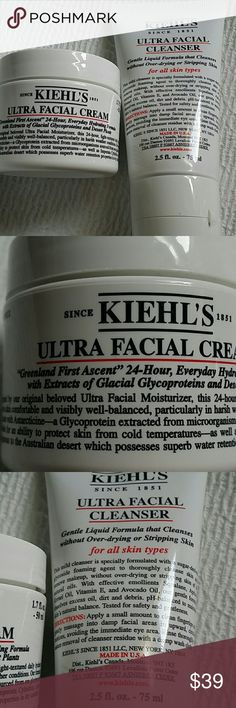 Kiehl's Ultra Facial cream& ultra facial cleanser Kiehl's ultra facial cream 1.7oz and Kiehl's ultra facial cleanser 2.5oz Both New never used 1 of each Kiehl's  Makeup