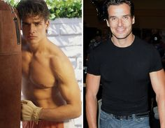Men of the -- Antonio Sabato Jr. Stars Then And Now, Jr, Eye Candy, My Love, Swimwear, Mens Tops, T Shirt, Fashion, Bathing Suits
