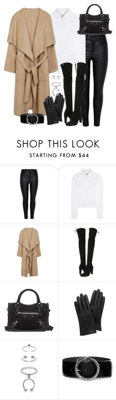 """Untitled #2736"" by theeuropeancloset on Polyvore featuring Anthony Vaccarello, Stuart Weitzman, Balenciaga, Mulberry, Maria Francesca Pepe and Yves Saint Laurent"