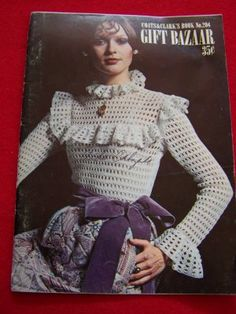 Vintage Crochet Patterns Book Victorian Blouse Baby Sweater Booties Hippie Belts Stuffed Animals: $7.99
