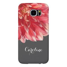 #girly - #Pretty Elegant Summer Coral Red Dahlia Flower Samsung Galaxy S6 Case