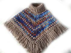 Háčkované pončo  Crochet poncho  vikea.eu