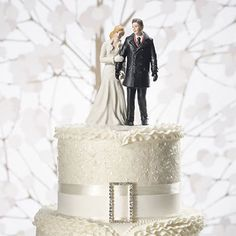 Winter Wonderland Wedding Couple Figurine