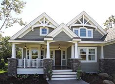 Best Ideas house exterior design dream homes craftsman style House Design, House, Cottage Style, Craftsman House Plans, House Exterior, House Styles, House Painting, Craftsman House, House Colors