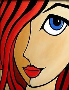 Obrazi v ogledalu VI - Art Painting Cubist Art, Abstract Face Art, Small Canvas Art, Indian Art Paintings, Arte Pop, Art Portfolio, Whimsical Art, Rock Art, Modern Art