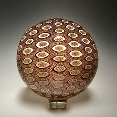 Autumn Sphere: David Patchen: Art Glass Sculpture | Artful Home