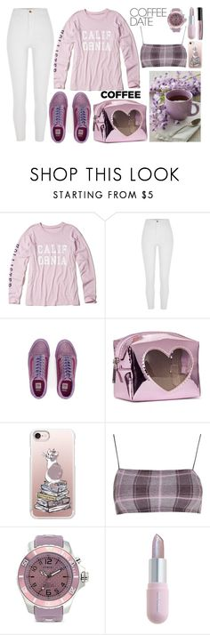 """Buzz-Worthy: Coffee Date"" by swimwearlover on Polyvore featuring Hollister Co., River Island, Casetify, KYBOE!, Winky Lux and CoffeeDate"