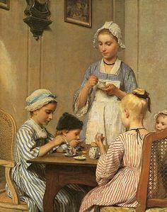 Children Breakfast - Albert Samuel Anker (1831-1910, Swiss)