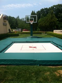 In ground basketball trampoline.  Check it out at maxairtrampolines.com
