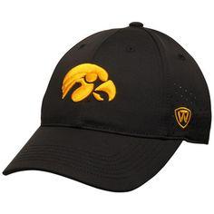 32d31c57427 Men s Top of the World Black Iowa Hawkeyes Jock II 1Fit Flex Hat