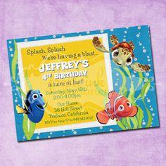Nemo and Friends Birthday Invitation by FreshInkStationery on Etsy, $1.40