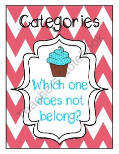 Categories: Which item does not belong? Flashcards, board game, and worksheet. Great way to address category goals besides divergent and convergent naming.