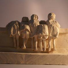Terre cuite | MARINE DANGY Art Sculpture, Paperclay, Ceramic Art, Sculpting, Street Art, Carving, Pottery, Statue, People