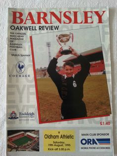 Barnsley v Oldham Athletic Football Programme 19/08/1995 Listing in the Division 1 Fixtures,1992-2004,League Fixtures,English Leagues,Football (Soccer),Sports Programmes,Sport Memorabilia & Cards Category on eBid United Kingdom