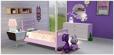 Ultra Lounge Girls' Bedroom Set - Store - The Sims™ 3 Little Girl Bedrooms, Girls Bedroom Sets, The Sims, Sims 2, Minimalist Bedroom, Bedroom Decor, Bedroom Ideas, Toddler Bed, Lounge