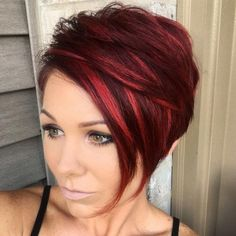 Image result for black cherry pixie cut