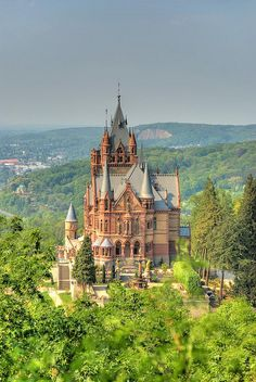 Dragon Castle, Schloss Drachenburg, Germany ✈✈✈ Here is your chance to win a Free International Roundtrip Ticket to anywhere in the world **GIVEAWAY** ✈✈✈ https://thedecisionmoment.com/free-roundtrip-tickets-giveaway/