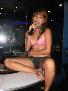 Cute Filipina bargirls inside Det 5 on Perimeter Road in Angeles City Philipines #philippines #nightlife
