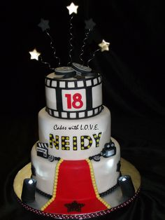Hollywood's Red Carpet Cake