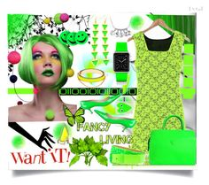 """""""Green summer"""" by jeneric2015 ❤ liked on Polyvore featuring 59 Seconds, Manolo Blahnik, Versace, Lewis N. Clark, Casetify, CC SKYE, Alexis Bittar, Ardene and Comme des Garçons"""