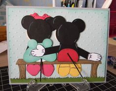 Ruth's Stamping Corner: Getting Punch With Mickey And Minnie!